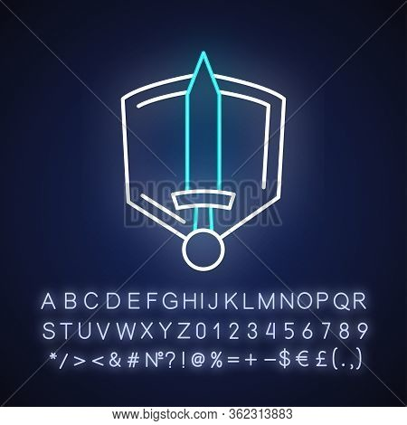 History Epic Neon Light Icon. Outer Glowing Effect. Sign With Alphabet, Numbers And Symbols. Common