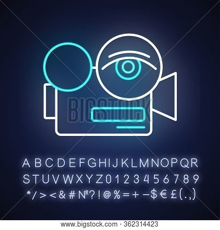Arthouse Film Neon Light Icon. Outer Glowing Effect. Sign With Alphabet, Numbers And Symbols. Festiv