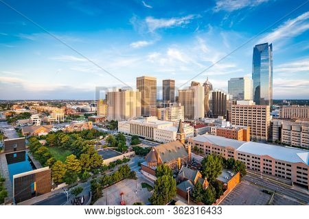 Oklahoma City, Oklahoma, USA downtown skyline in the afternoon.