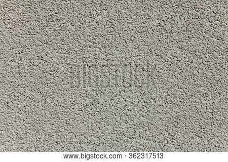 Grey Wall Texture, Background. Decor Of The Cement Textured Coating.  Structural Plaster, Rough, Une