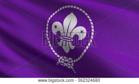 Flag Of World Organization Of The Scout Movement Or Wosm, The Largest International Scouting Organiz