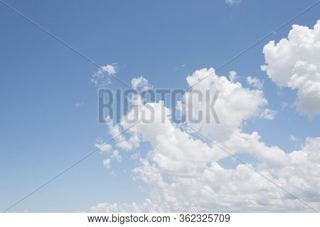 Skyscape, Summer Bright Blue Sky With Clouds