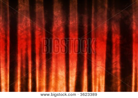 Orange Red Abstract Texture Background in Soft Waves Patterns poster