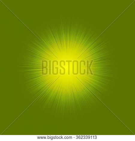 Illustration Of A Shining Star Or Flare, Many Rays From One Point.red Color Bright Lens Flare Rays L