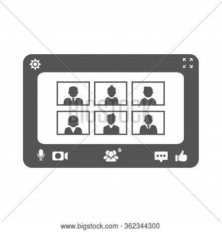 Zoom Meeting Icon. Video Conference Icon. Vector Illustration In Flat Style. Eps 10