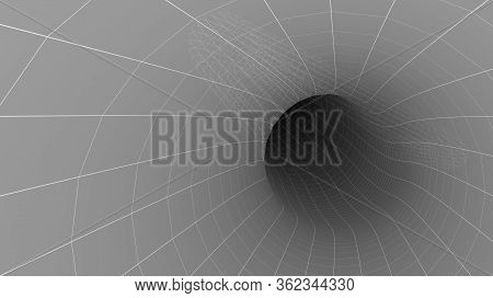 3d Abstract Model Of A Wormhole Tunnel For Space Science Backgrounds Or Interstellar And Time Travel