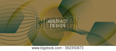 Army Landing Page Design. 3d Flow Line Texture. Color Digital Movement. Green Dynamic Website. Landi
