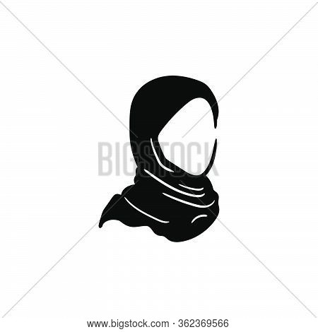 Hijab Moslem Vector Graphic Design Illustration Isolated
