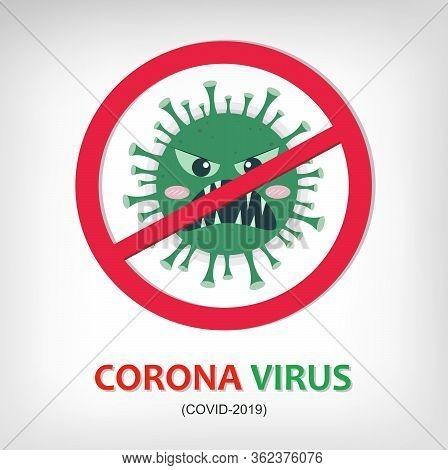 Corona Virus Prevention. Illustration Of Corona Virus. Corona Virus In Wuhan, China, Global Spread,