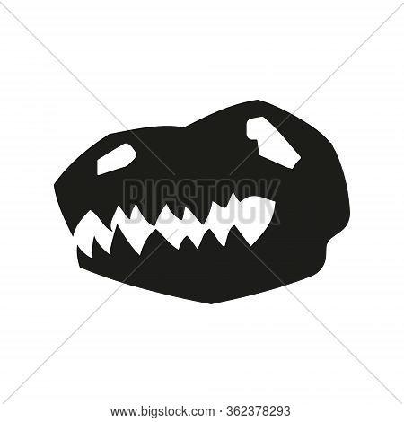Dinosaur Head Skull Icon, Archeology And Paleontology Symbol. Dinosaurs Were The Dominant Terrestria