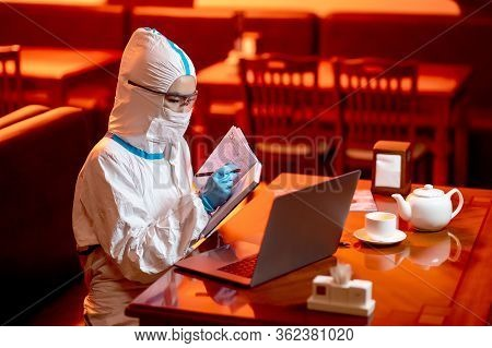 Scientist Virus Technology Asian Protection Person Doctor