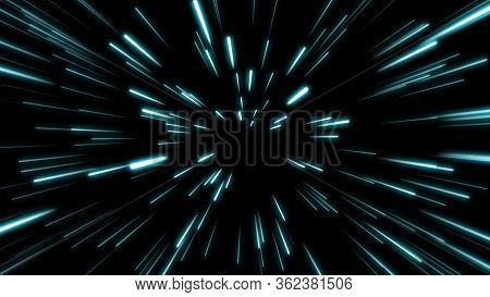 Line Shape Neon Blue And Red Light Dark Streaks Simple.cyber Futuristic Speed Zoom Motion Graphic.ba