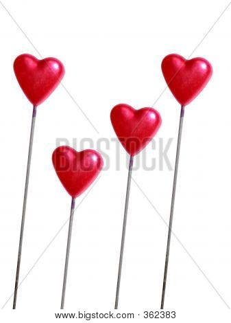 Several Hearts With Clipping Path