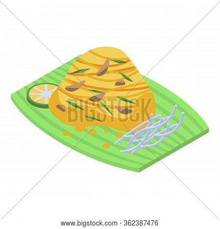 Thai Food Icon. Isometric Of Thai Food Vector Icon For Web Design Isolated On White Background