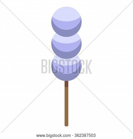 Thai Balls Stick Icon. Isometric Of Thai Balls Stick Vector Icon For Web Design Isolated On White Ba
