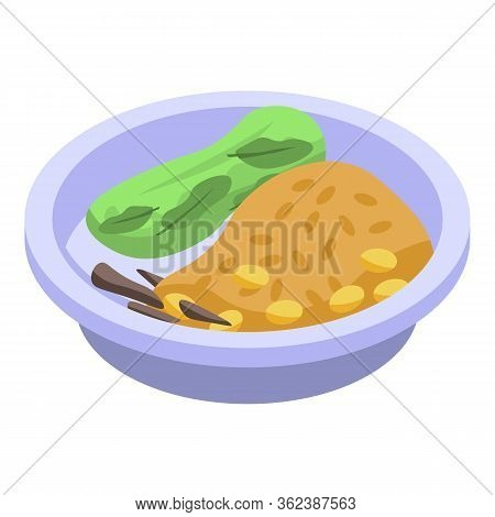 Delicious Thai Food Icon. Isometric Of Delicious Thai Food Vector Icon For Web Design Isolated On Wh