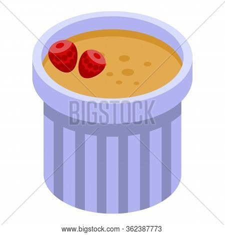 French Fresh Smoothie Icon. Isometric Of French Fresh Smoothie Vector Icon For Web Design Isolated O