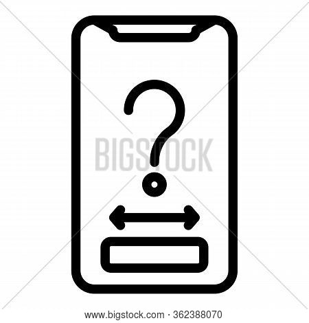 Candidate Smartphone Icon. Outline Candidate Smartphone Vector Icon For Web Design Isolated On White