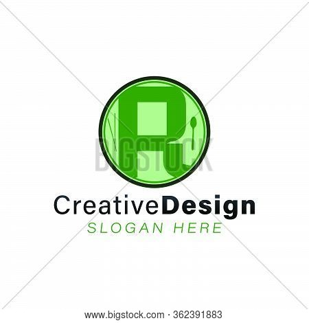 Initial Letter R Helathy Food Modern Logo Ideas. Inspiration Logo Design. Template Vector Illustrati