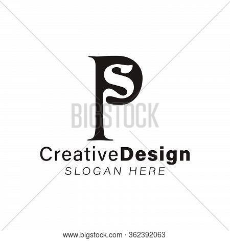 Initial Letter P S Modern Logo Ideas. Inspiration Logo Design. Template Vector Illustration. Isolate