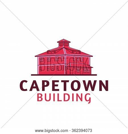 Cape Town Building, Settlement, Habitation Logo Ideas. Inspiration Logo Design. Template Vector Illu