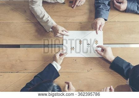 Implement Improve Puzzel Solve Connections Together With Synergy Strategy Team Building Organizing C