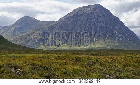 Stob Na Doire (1011m Left) & Stob Dearg (1022m Right) At The Head Of Glen Coe Viewed From West Highl
