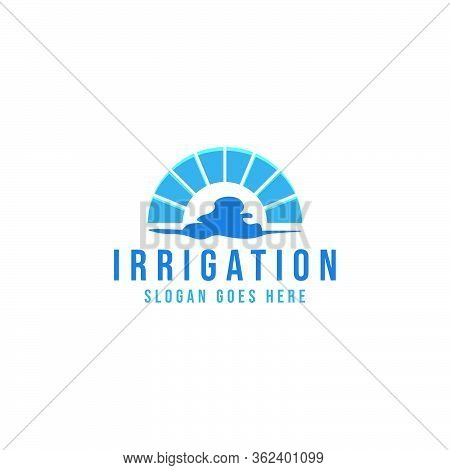 Irrigation, Water Canal, Bridge Logo Ideas. Inspiration Logo Design. Template Vector Illustration. I