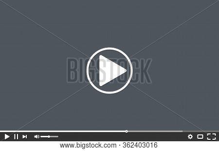 Modern Multimedia Player Social Media Template. Vector Illustration. Media Player Template . Video P