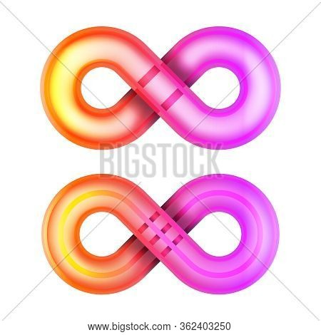 Isolated Infinity Glowing Shape Unlimited Symbol Endless Vector Illustration