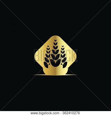 Wheat Rice Agriculture Logo Ideas. Inspiration Logo Design. Template Vector Illustration. Isolated O
