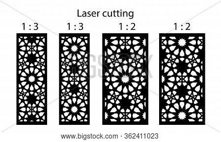Laser Cut Decorative Vector Panel Set. Jali Design, Cnc Decor, Interior Design Element. Islamic, Ara