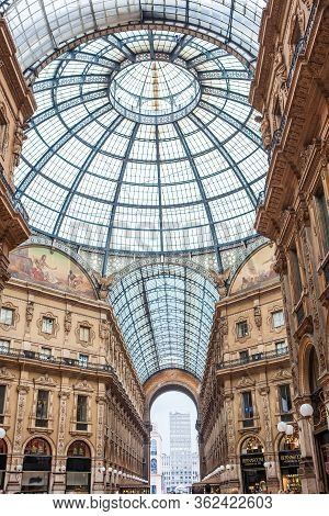 Milan, Italy - November 3, 2012:details Of Ceiling Of The Galleria Vittorio Emanuele Ii, The Oldest