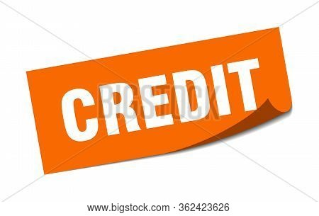 Credit Sticker. Credit Square Isolated Sign. Credit