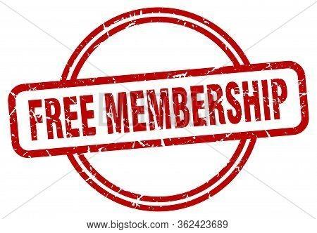 Free Membership Stamp. Free Membership Round Vintage Grunge Sign. Free Membership