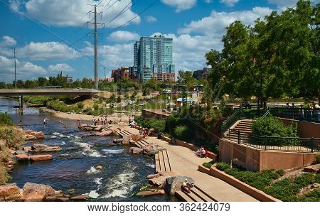 Denver, Colorado - August 19, 2012: Tourism Is A Huge Part Of Denvers Economy, With 11 Record Settin
