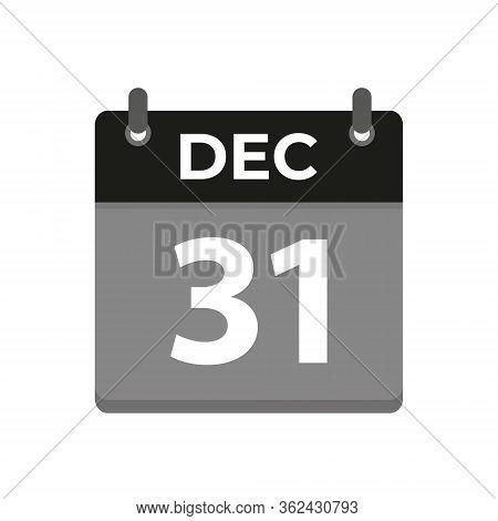 Calendar Icon Image With Date, Black Almanac Vector