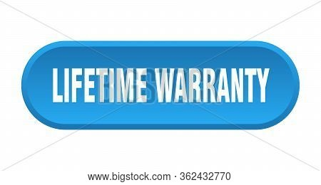 Lifetime Warranty Button. Lifetime Warranty Rounded Blue Sign. Lifetime Warranty