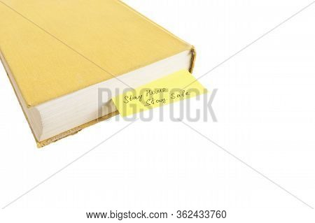 Yellow Old Book With