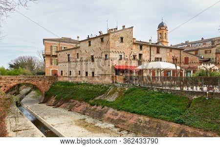 San Giovanni in Marignano small town,  Emilia-Romagna, Italy - Italian cityscape