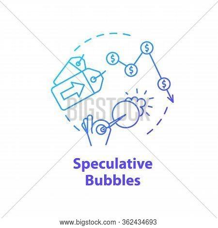 Speculative Bubble Concept Icon. Economic Crisis, Financial Emergency Idea Thin Line Illustration. S