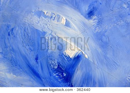 Oil Painting Blue Waves
