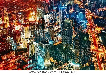 Beiging, China- May, 24, 2015: Beautiful Skyscrapers, City Building, Beautiful Office And Commercial