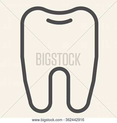 Tooth Line Icon. Dentistry Or Stomatology Logo Outline Style Pictogram On White Background. Health D