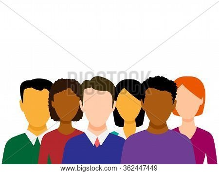 Diversity Modern Flat Vector Concept Digital Illustration Of Various People Presenting Person Team D