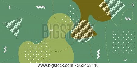 Fashion Camouflage Background. Trendy Camo Wave Cover. Creative Green Military Pattern. Graphic Camo