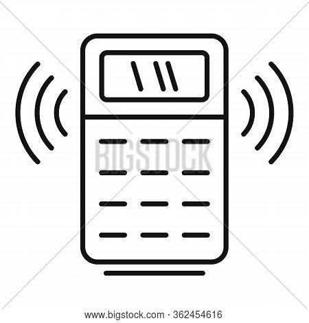 Smart Door Locker Icon. Outline Smart Door Locker Vector Icon For Web Design Isolated On White Backg