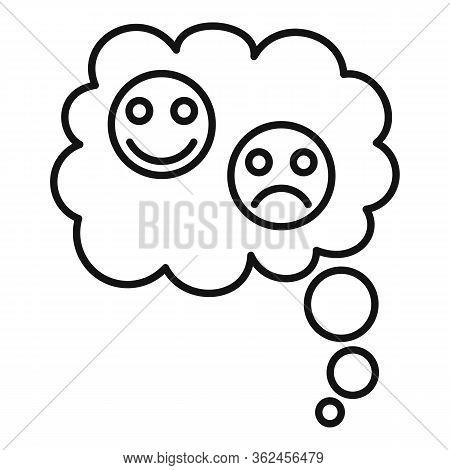 Abuse Bipolar Disorder Icon. Outline Abuse Bipolar Disorder Vector Icon For Web Design Isolated On W