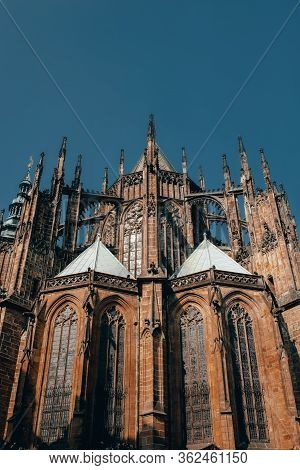 Gorgeous View Of Gothic Capel  Cathedral , Monument Of German Roman  Catholicism Neogothic Architect