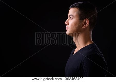Profile View Of Young Handsome Asian Man